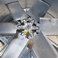Simulating air-cooler header and fan performance informs physical testing plans